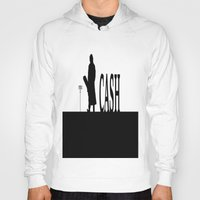 johnny cash Hoodies featuring CASH by shannon's art space