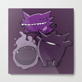 Pokémon - Number 92, 93 & 94 Metal Print