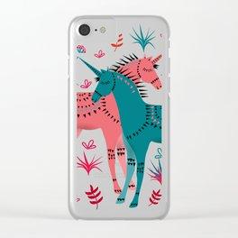 Unicorn Land Clear iPhone Case