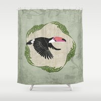 toucan Shower Curtains featuring Toucan by Aquamarine Studio
