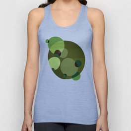 """Retro Green Super Dots"" Unisex Tank Top"