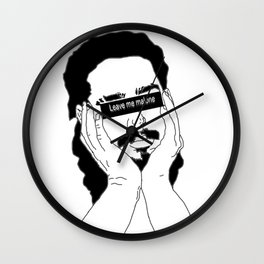 Leave Me Malone Wall Clock