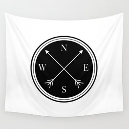 Directions \\ Abstract Compass Design Wall Tapestry
