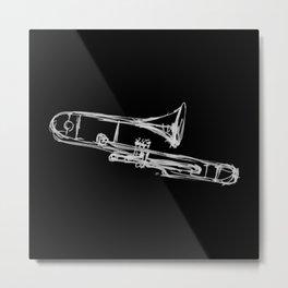 Piston Valve Trombone Metal Print