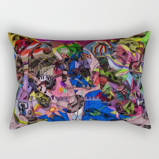 Little bitty bits of time floating freely in the mind Rectangular Pillow