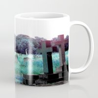brompton Mugs featuring Meet You At The Cemetery Gates by I Swear I Swoon