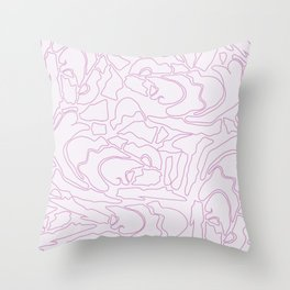 Pastel Pattern I Throw Pillow
