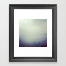 Lake Michigan Fog Framed Art Print