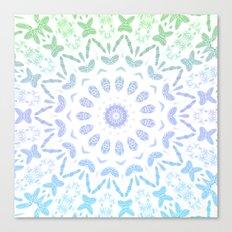 Ombre Mandala Blue Green Canvas Print