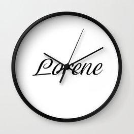 Name Lorene Wall Clock