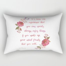 Anne of Green Gables Make Up Your Mind Rectangular Pillow
