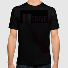 Drive. SMALL Mens Fitted Tee Black