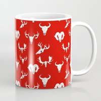 skulls Mugs featuring Skulls by Suzz in Colour