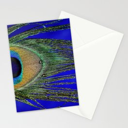 Peacock Feather Macro Stationery Cards