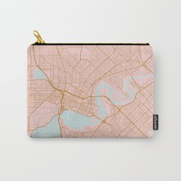 Pink and gold Perth map, Australia Carry-All Pouch