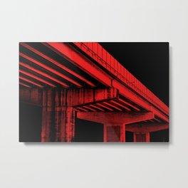 Mansfield: Red Metal Print