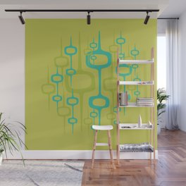 Eclectic Mid Century Modern Abstract Honeycomb Pattern Wall Mural