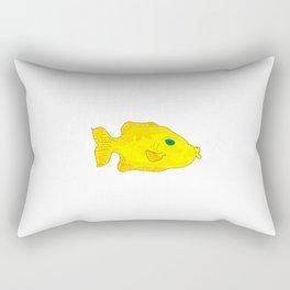Yellow Fish (Just Babel) Rectangular Pillow