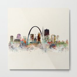 saint louis missouri skyline Metal Print