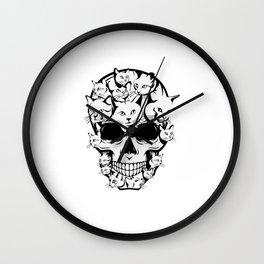 Funny Cat Skeleton Human Skull Halloween Costume Gifts Wall Clock