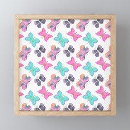 Watercolor Butterflies Framed Mini Art Print