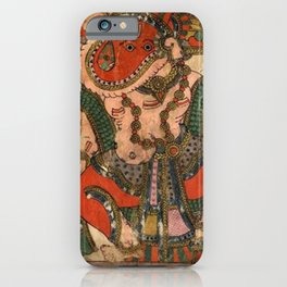 Hindu Krishna Ganesh Tapestry iPhone Case