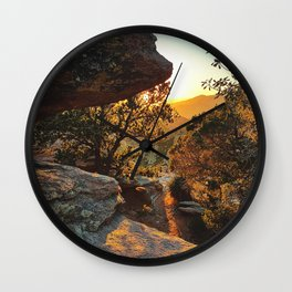 Tucson's Golden Hour Wall Clock
