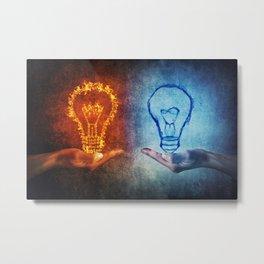 Fire vs Water Metal Print