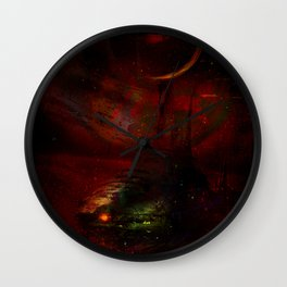 Leaving the planet 72 Pegasi Wall Clock
