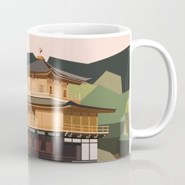 Geometric Kinkakuji, Golden Pavilion Kyoto Japan Coffee Mug