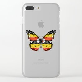 Butterfly Flag Of Uganda Clear iPhone Case