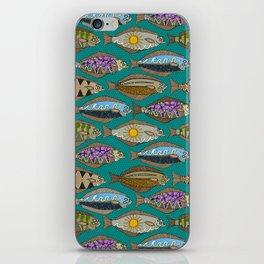 Alaskan halibut teal iPhone Skin