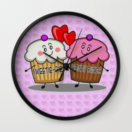 Sweetie-pie Honey bunch Wall Clock