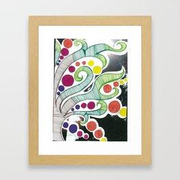 Squared Tree Framed Art Print