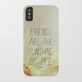Sunshine & Friendship iPhone Case