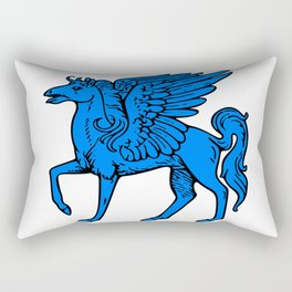 Pegasus shield 4. Rectangular Pillow