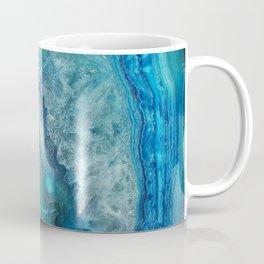 Aqua Turquoise Crystal Mineral Gem Agate Coffee Mug