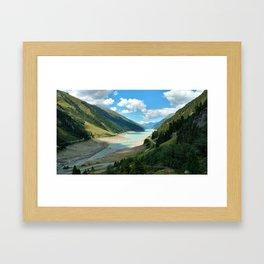 Gepatsch Reservoir Kaunertal Glacier Austria Alps Landscape Framed Art Print