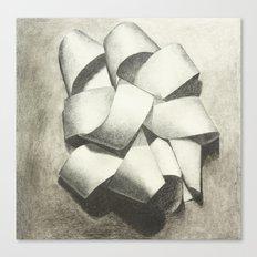 Ribbon - Graphite Illustration Canvas Print
