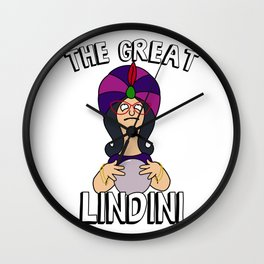 The Great Lindini Linda Belcher Inspired Psychic Wall Clock