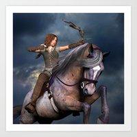 Horse Warrior Art Print