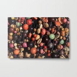 Tagua Nut Beads Metal Print