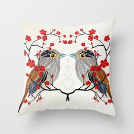look at me my bird  Throw Pillow