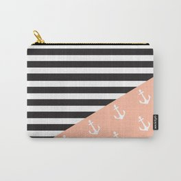 Nautical Mix Print Carry-All Pouch