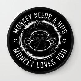 Black Mirror Monkey Wall Clock
