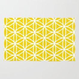 Yellow/White Flower of Life Rug