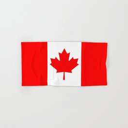Canadian National flag, Authentic color and 3:5 scale version Hand & Bath Towel
