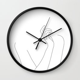 Hand and body illustration - Alma Wall Clock