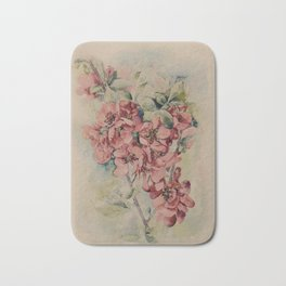 Flowering Japanese quince 2 Bath Mat