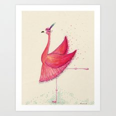Flamingo Can Can  Art Print